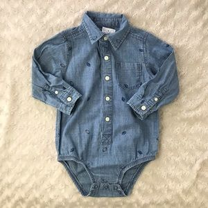 OshKosh B'Gosh Football Print Bodysuit Shirt